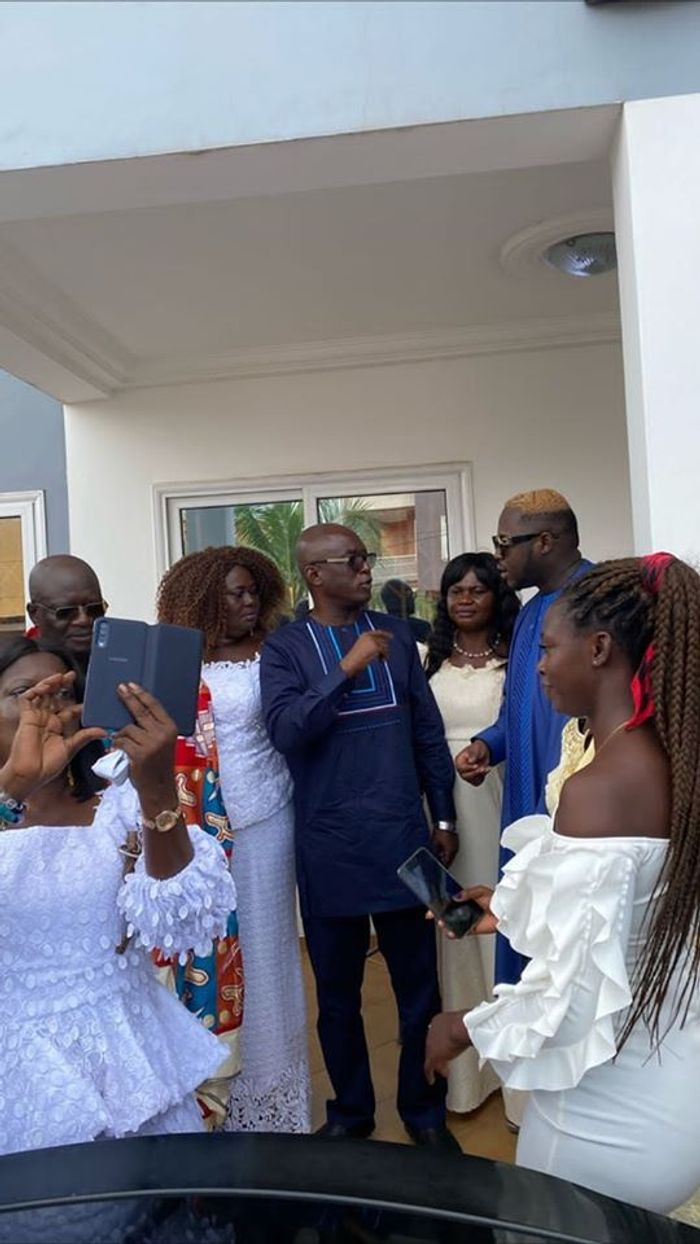 First Photos & Video From Medikal & Fella Makafui's Traditional Marriage Ceremony Hit Social Media
