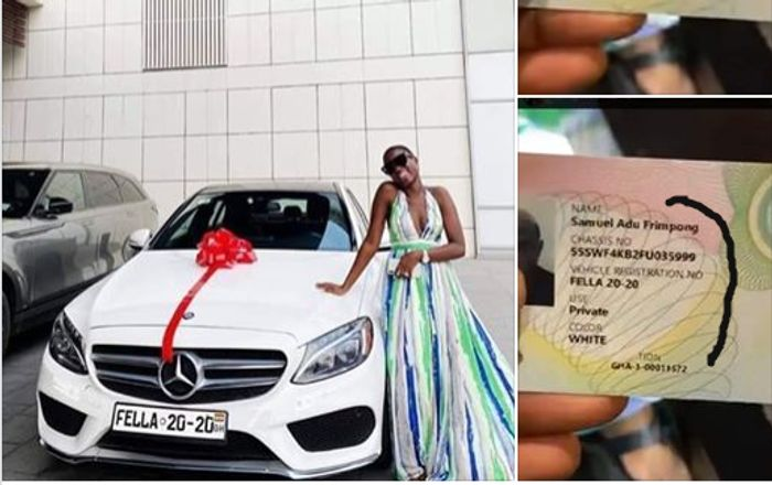 The Customised Mercedes Benz C300 Medikal Bought For Fella Makafui Is Not In Her Name