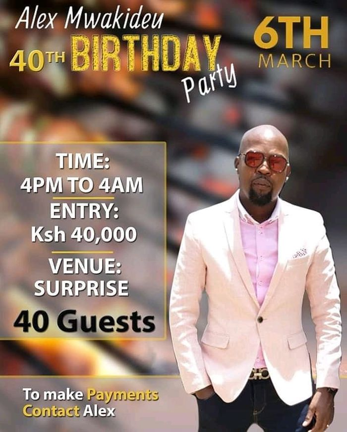 Kenyan Radio Host Charges Guests Ghc2,107 As Entrance Fee To His 40th Birthday Party