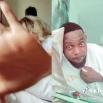 Nadia Buari Hid Her Husband Under Their Bed But He Forcefully Popped Out And Nearly Showed His Face In Her Tiktok Duet With AY Comedian