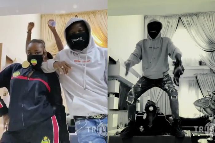 Stonebwoy & Wife, Dr Louisa, Storm Instagram In Their Customised Bhim Nose masks
