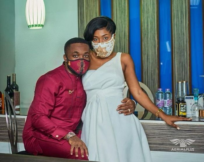 Kennedy Osei And Wife, Tracy Ameyaw Stun In Beautiful Customised Nose masks