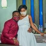 Kennedy Osei And Wife, Tracy Ameyaw Stun In Beautiful Customised Nose masks
