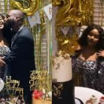 Chioma Gets A Customised 24k karat Gold Bottle Of Wine As Her 25th Birthday Present