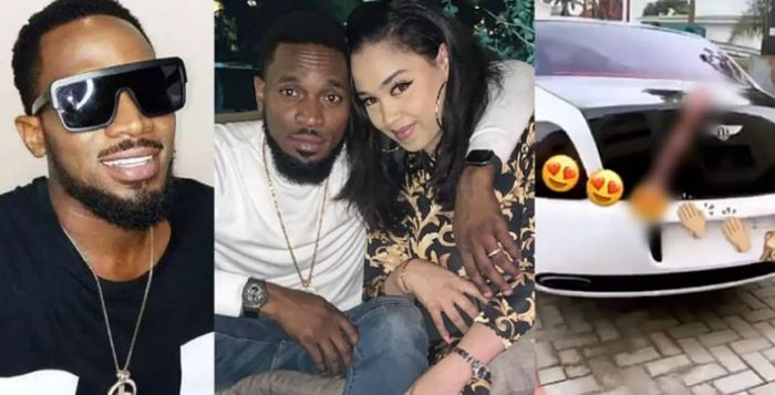 Musician, D'banj Gifts His Beautiful Wife A Brand New Bentley