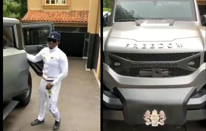 Young Ghanaian Billionaire, Cheddar Cruises In His Customised Bulletproof Rezvani Tank Worth A Whopping $350,000