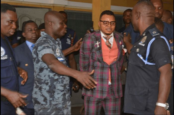 Angel Obinim Fakes Sickness As Police Storms His Church To Arrest Him - VIDEO