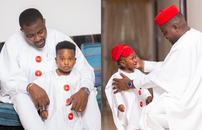 John Dumelo Uses His Son's Instagram Account To Wish Himself On Father's Day