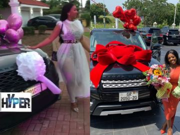 Hajia4Real Beats Nana Aba Anamoah To Her Game As She Gets A Brand New Range Rover And A Plush Mansion On Her Birthday