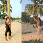 Efia Odo Goes Beaching With Her Godmother, Yvonne Nelson - Check Out Her Bikini-themed Photos