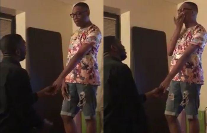 VIDEO: Emotional Gay Man Bursts Into Tears After His Lover Knelt And Proposed To Him