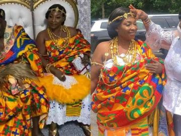 A Look At The First Photos From Kyeiwaa's Traditional Marriage Ceremony In The United States
