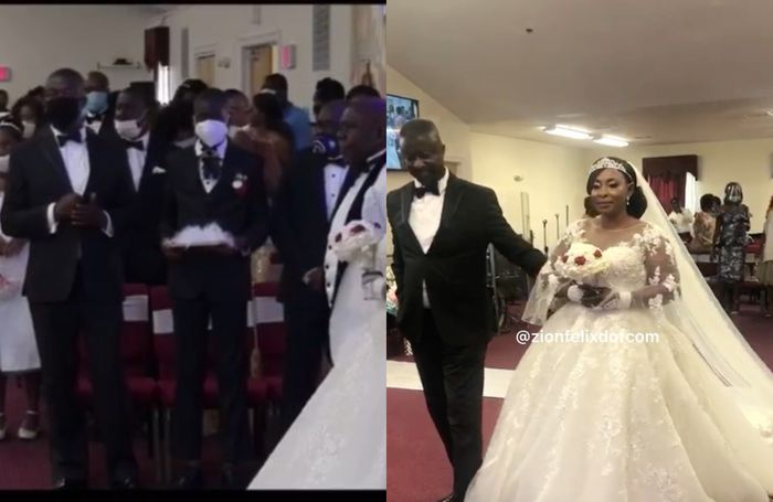 WATCH LIVE Actress Kyeiwaa's White Wedding Ceremony In The United States