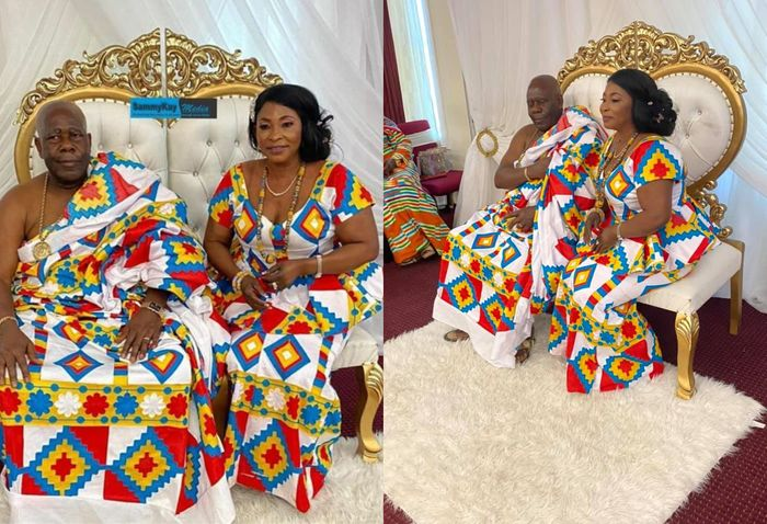 VIDEO: Kyeiwaa And Husband Wrap Up Their White Wedding With Kente-themed Thanksgiving Service In The United States