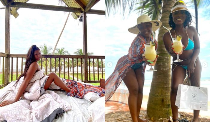 Kwabena Kwabena, Ahuofe Patri And Salma Mumin Are On Baecation At The Same Resort - 3some Baecation?
