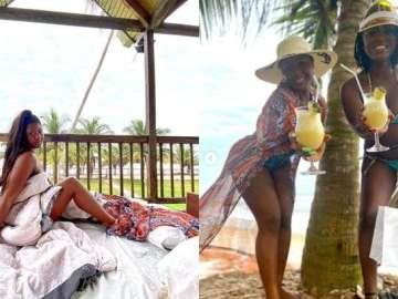 Kwabena Kwabena, Ahuofe Patri And Salma Mumin Are On Baecation At The Same Resort - 3some Baecation?