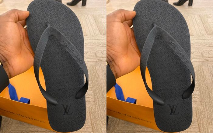 PHOTO: This Louis Vuitton Flip-flop Slippers aka 'Chale Wote' Costs Ghc4, 167 - Will You Buy?