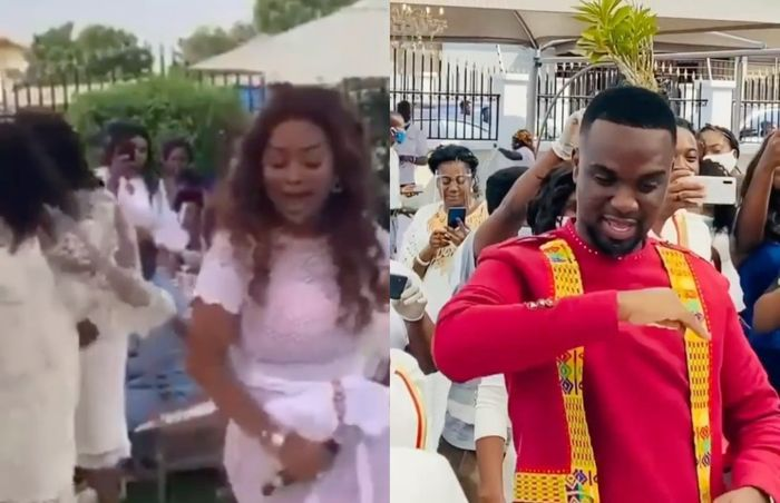 VIDEO: Nana Ama McBrown Shows Some Serious Dance Moves At Joe Mettle And Selasie's Marriage Ceremony