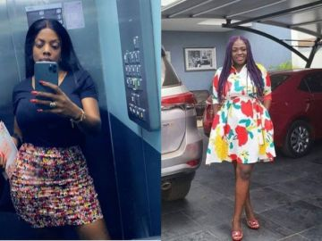 """Tracey Boakye Says Her """"SENIOR"""" Nana Aba Anamoah Has Called And Disciplined Her For Getting Into The Gutters With Mzbel"""