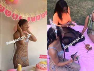 Watch The Videos From Sister Derby's Low Budget And Pitiful 36th Birthday Party Attended By Just 2 Celebrities