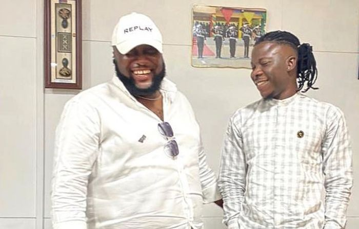 Stonebwoy Finally Meets Sarkodie's Manager, Angel, After Punching In The Eye