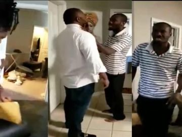 A Video Of Ghanaian US-based Pastor, Slyvester Ofori, Swearing To Kill His Wife, Barbara, At All Cost Pops Up Online