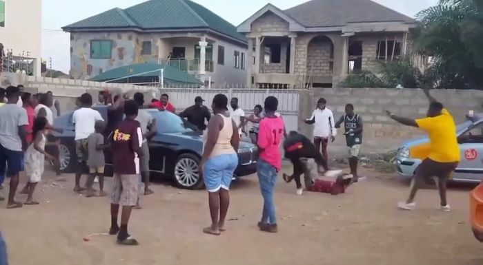 VIDEO: Shatta Wale Nearly Ran Over A Die-hard SM Fan With His New BMW Car