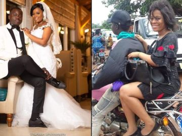 PHOTOS: Pretty Lady Gets A Husband After Posting A Photo Of Herself Riding On Okada In A Facebook Group