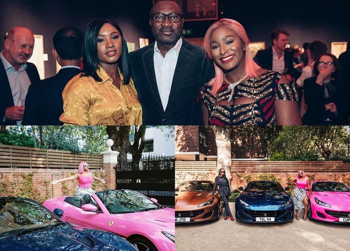 PHOTOS: Femi Otedola Takes His 3 Daughters To Shopping And Buys For Them Ferrari Portofino Cars Worth About $210,783 Each