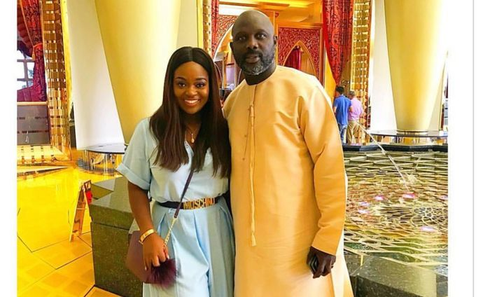 A Picture Of Jackie Appiah In A Couple Pose With Liberian President, George Weah, Is Trending On Instagram