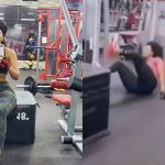 VIDEO: Joselyn Dumas Falls Down On Her Butts At The Gym