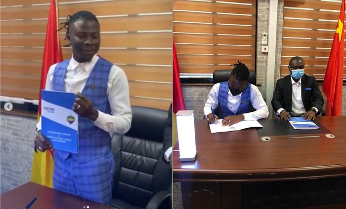 Stonebwoy Probably Thinks Tecno Mobile Is A Shitty Device As He Announces His Tecno Ambassadorial Deal Using An iPhone