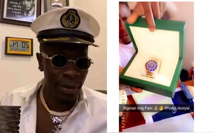 VIDEO: Shatta Wale Flaunts His Brand New Diamond Rolex Watch And Behaves 'Childish' By Using A Diamond Tester To Prove Its Real