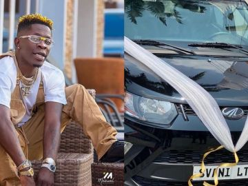 PHOTOS: Shatta Wale Crowned And Rewarded With A Brand New Car After 'Thrashing' Stonebwoy In The Asaase Radio Soundclash