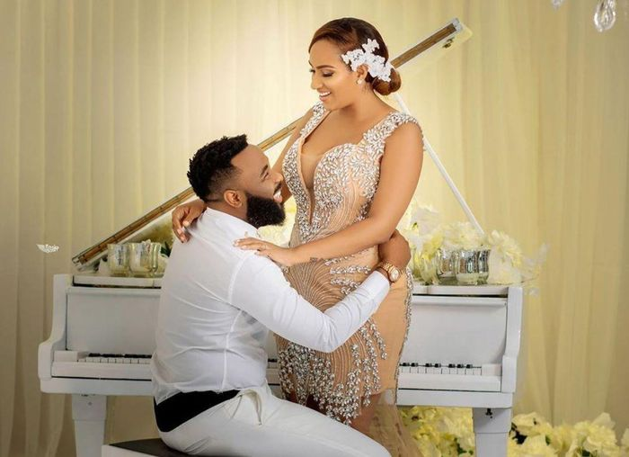 Photos+Video: Juliet Ibrahim Sparks Marriage Rumors With Nigerian Presenter, VJ Adams