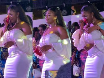 PHOTOS: Dr Kwaku Oteng's Estranged Wife, Akua GMB, Shed A Lot Of Tears At Her Company Launch And Birthday Celebrations