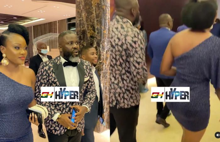 VIDEO: People Are Talking About The Skimpy Outfit Osei Kuffuor's Wife To Dr Ofori Sarpong Daughter's Wedding