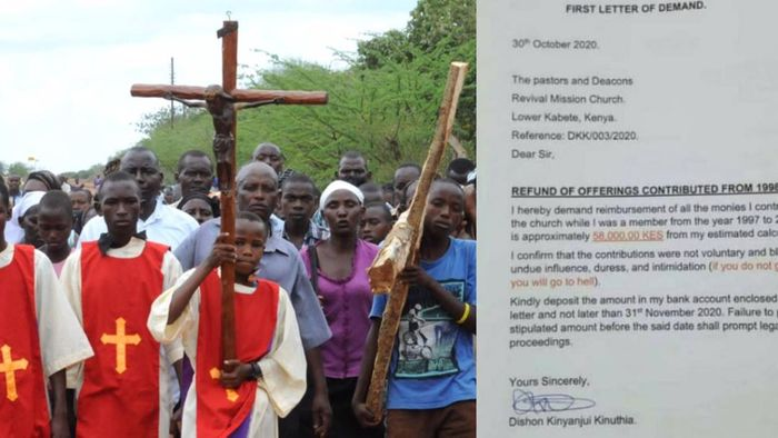 Kenyan man demands refund of all his offerings he gave to church from 1998-2018