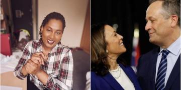 Bitter Sex-starved Feminist, Dela Sikadze, Drags Ghanaian Men Over Kamala Harris' Husband, Emhoff, Becoming America's 2nd Gentleman