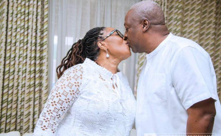 PHOTOS: Lordina Mahama's Love Note To John Mahama On His 62nd Birthday Gets People Talking