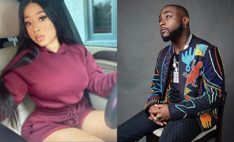 Slay Queen Exposes Davido For Sliding In Her DM - Calls Chioma To Come For Her Man