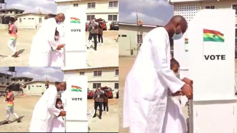 2020 Elections: Video Of Asawase MP, Mubarak Muntaka's Under-age Daughter Casting A Vote Goes Viral