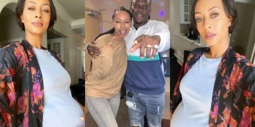 American Singer, Keri Hilson, Shares Baby Bump Photos 7 Months After Meeting And Collaborating With Stonebwoy