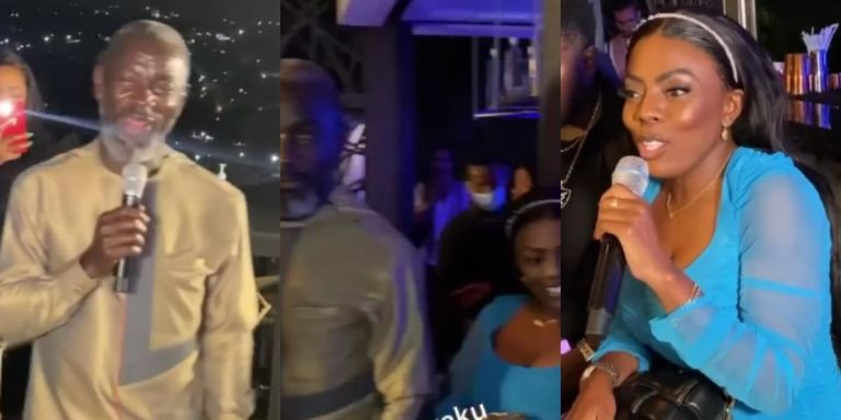 Watch The Very Uncomfortable Moment Nana Aba Anamoah And Her Ex-sugar Daddy, Kofi Amoabeng, Met In Public For The First Time