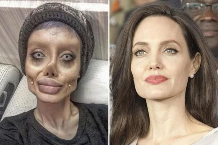 PHOTOS: 19-year-old Iranian Girl Jailed 10 Years For Photoshopping Herself To Look Like Zombie Angelina Jolie