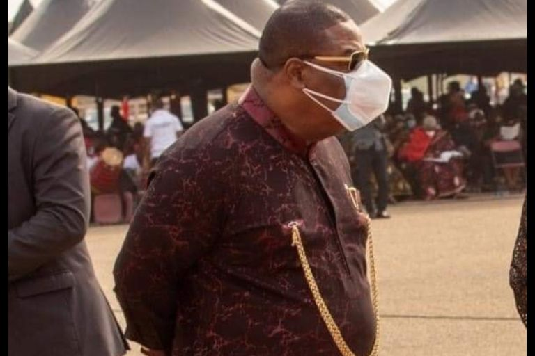 Photo Of The Day: Man Of God, Archbishop Duncan Williams Wears 2 Nose Masks To Protect Himself From Contracting COVID-19