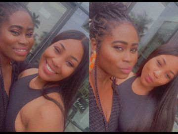 PHOTOS: Lydia Forson Links Up With Disqualified BBNaija Housemate, Erica