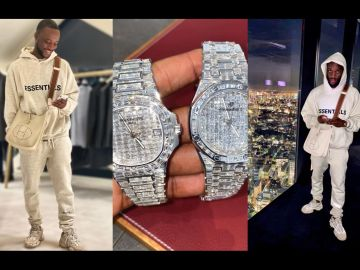 VIDEO: Ghanaian 'Big Boy', Pretty Kobe, Spoils Himself On His 35th Birthday With Two Watches, Patek Phillipe And Audemar Piquet Worth About $350,000