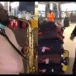 VIDEO: Tracey Boakye Actually Hired A Saxophonist To Play 'Happy Birthday' Song For Her As She Landed At KIA From Turkey