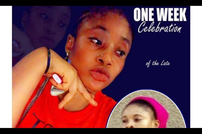Ama Broni: Poster Of The One-week Celebration Of The Slay Queen Who Was Fingered And Electrocuted To Death Pops Up